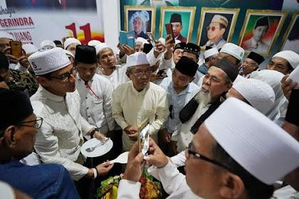 Sandi Datang, Para Habaib, Kyai Dan Warga NU Pasuruan Siap Menangkan Prabowo - Sandi