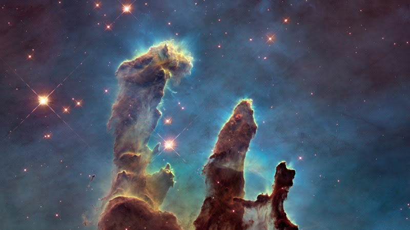 The Eagle Nebula's Pillars of Creation HD