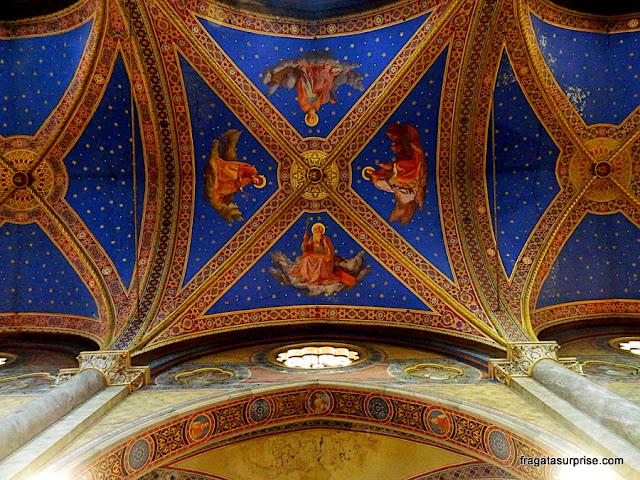 Detalhe do forro da Igreja de Santa Maria Sopra Minerva, Roma