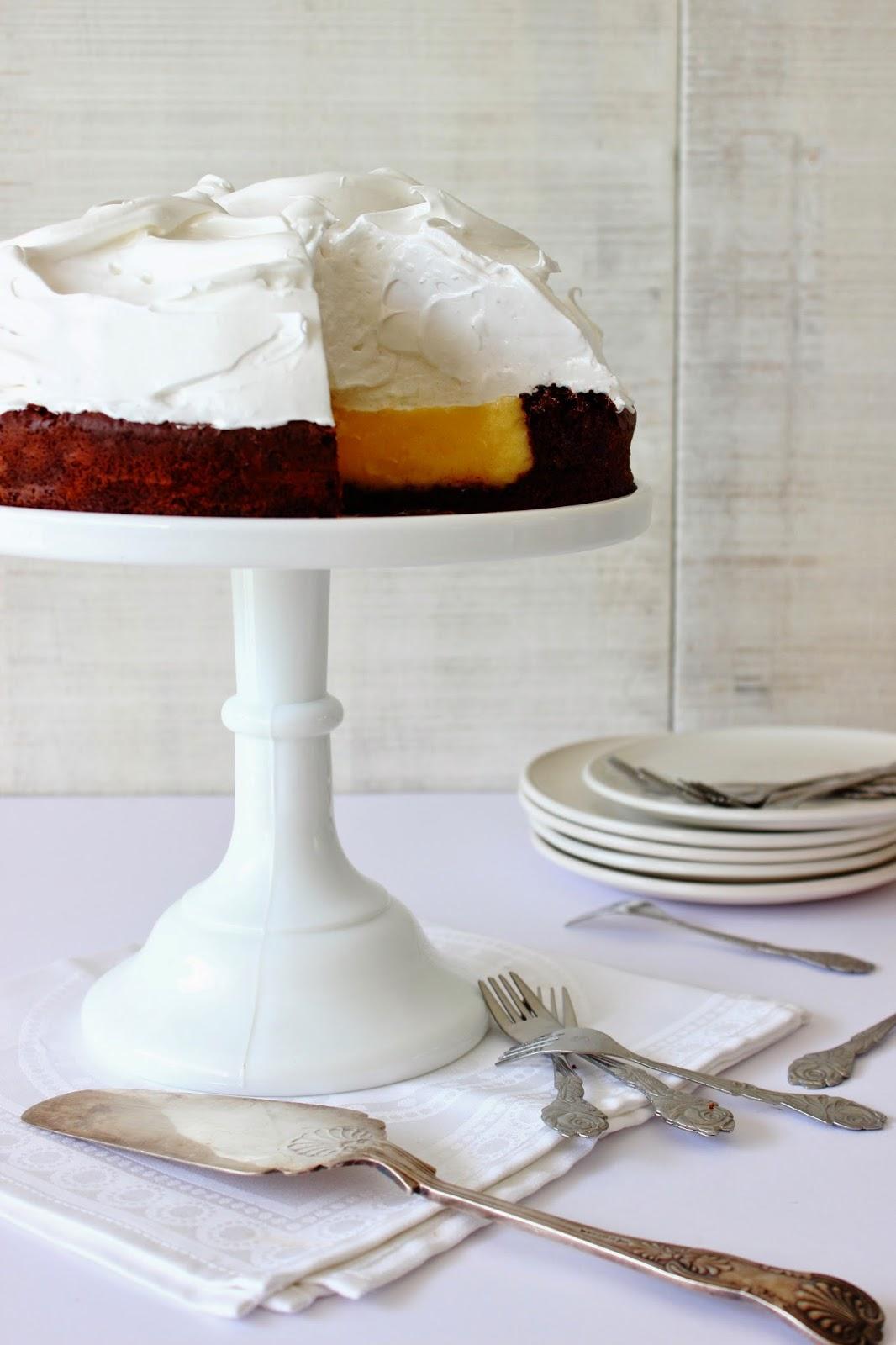 Citroen (lemon) meringue chocoladetaart