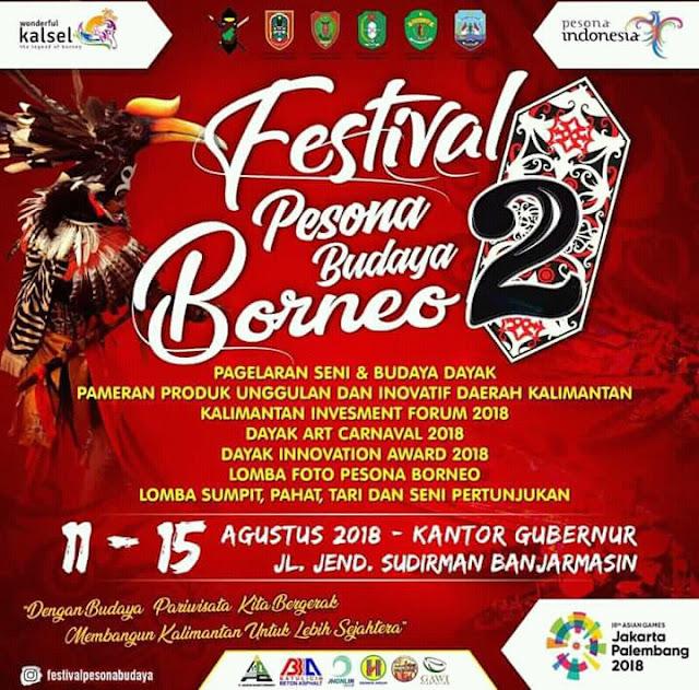 Festival Pesona Budaya Borneo II Gelar Berbagai Lomba