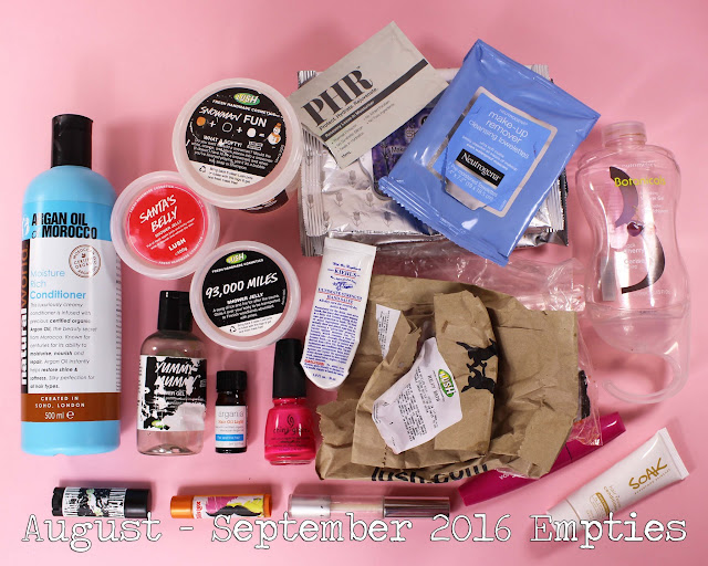 August - September 2016 Empties