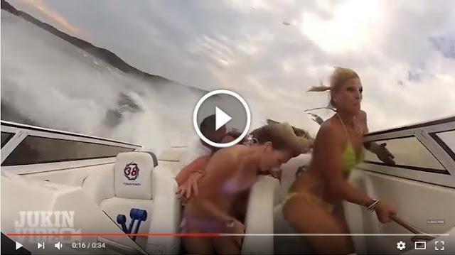 Beginilah Ngerinya Kecelakaan Perahu Cepat Ini Terekam Kamera, Yang Terjadi Pada Penumpangnya...