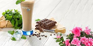 nescafe classic ile soğuk kahve çikolatalı ve naneli, nescafe ice, KahveKafe