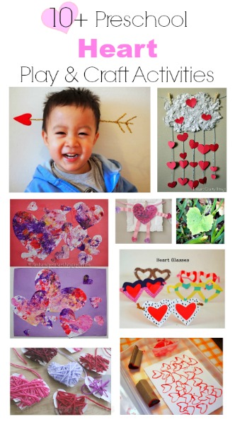 10+ ways to have playing and crafting with Hearts!
