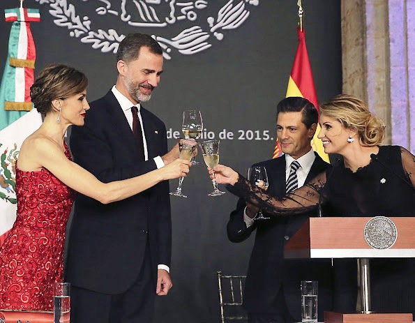 Dinner For King Felipe And Queen Letizia On Their Visit To Mexico, Day 1