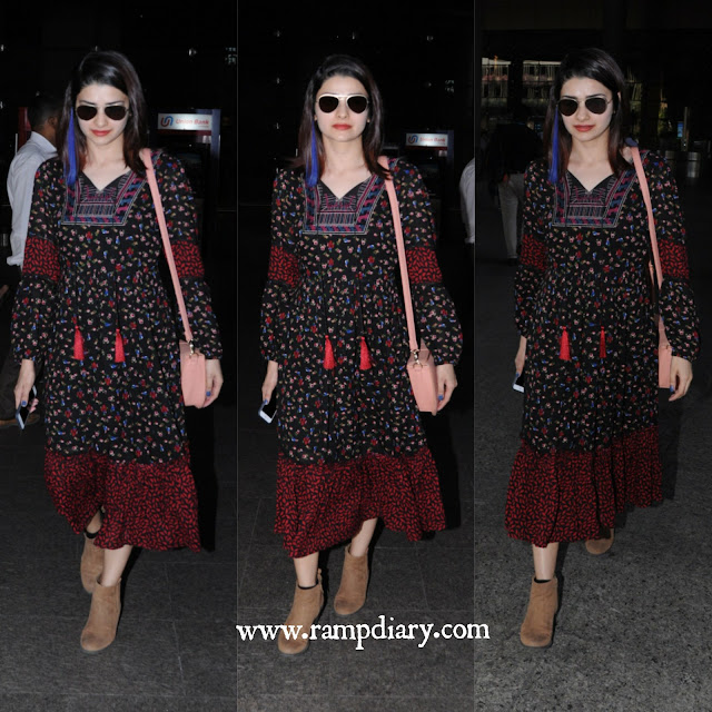 Prachi Desai Wearing Cover Story for Airport Look