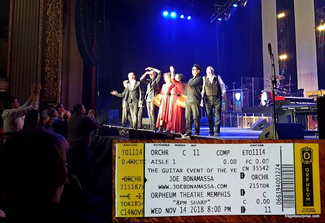 Show de Joe Bonamassa em Memphis, outrubro de 2018