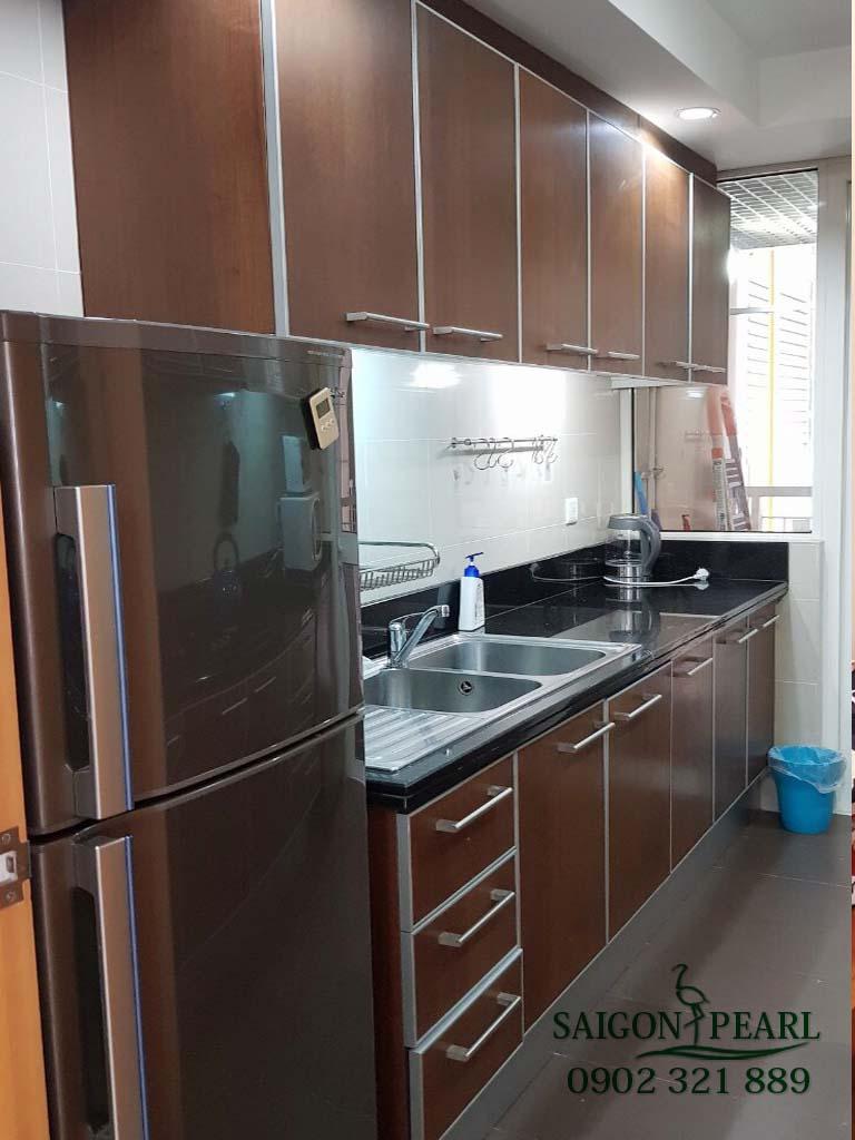 Topaz 1 Saigon Pearl cho thuê căn hộ 2 phòng ngủ - không gian bếp