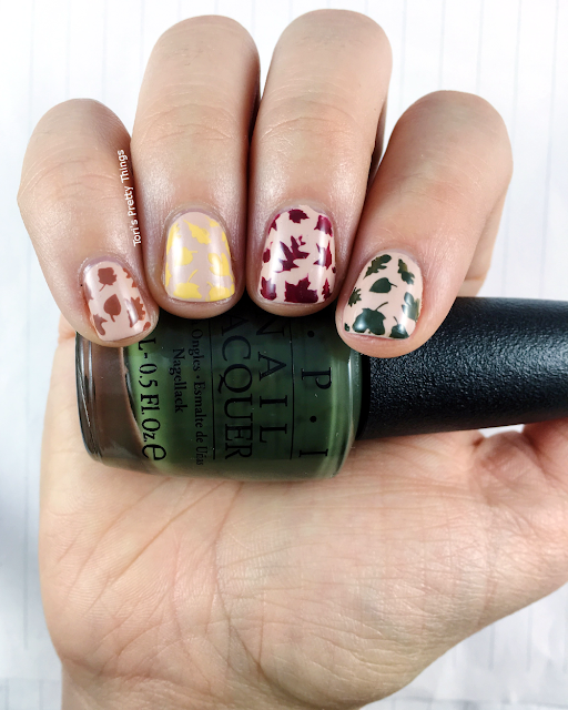 Tori's Pretty Things// OPI Suzi - The First Lady of Nails Fall Leaves Nail Art