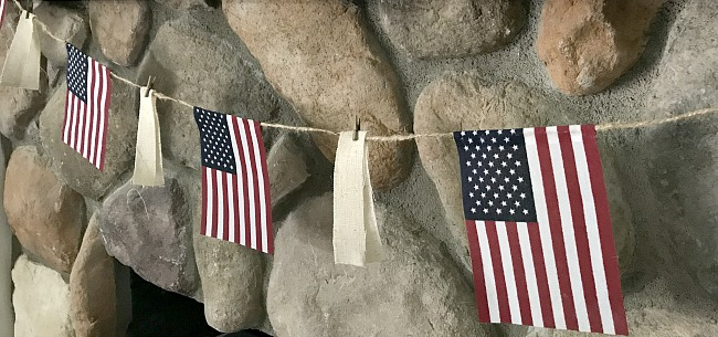 DIY American flag garland tutorial