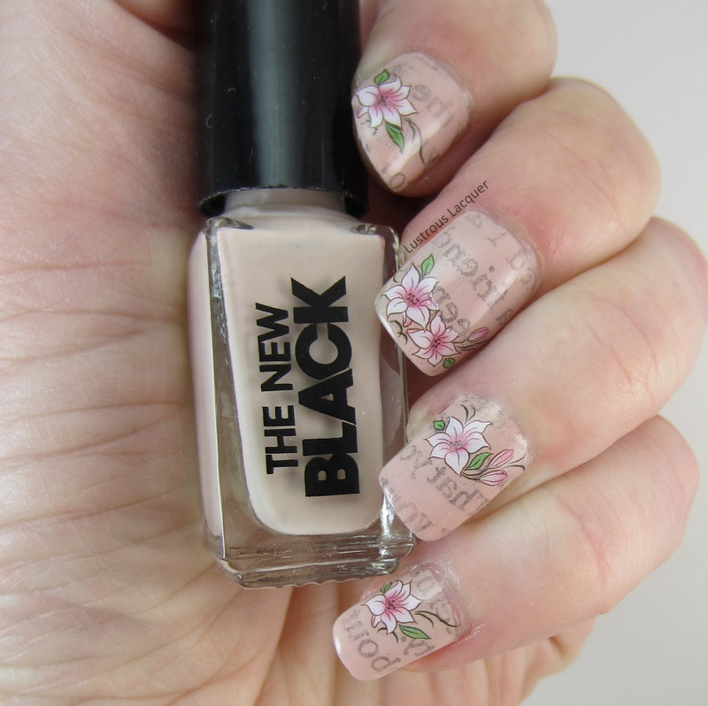 Floral-newspaper-nails