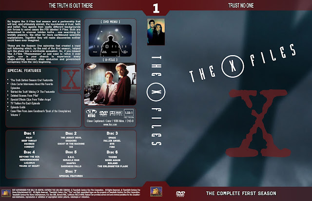 The X Files Season 1 DVD Cover