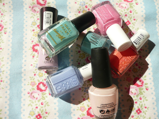 Spring Pastel Nail Varnish Polish Shades Colours