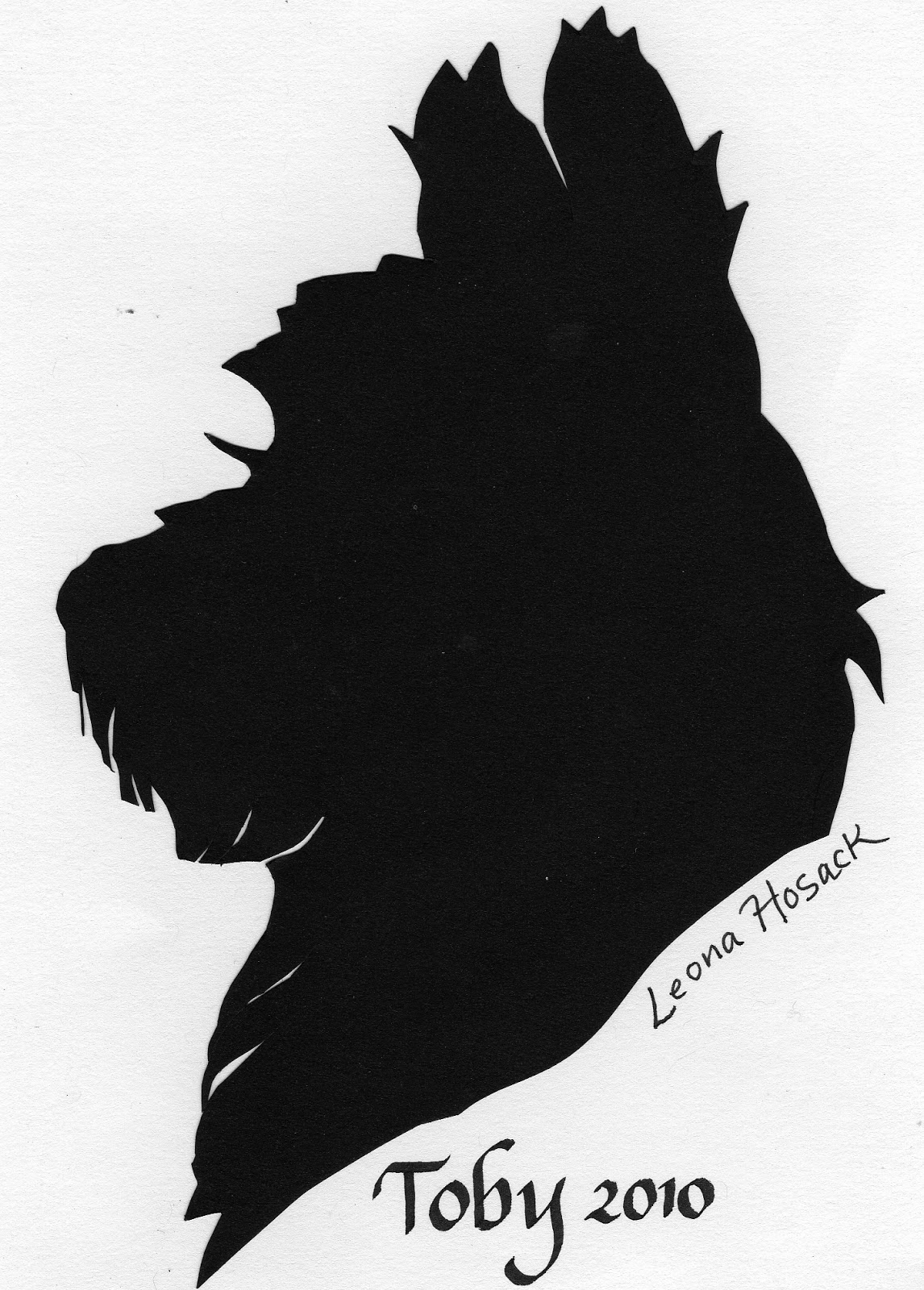 Scotties, dogs, silhouettes