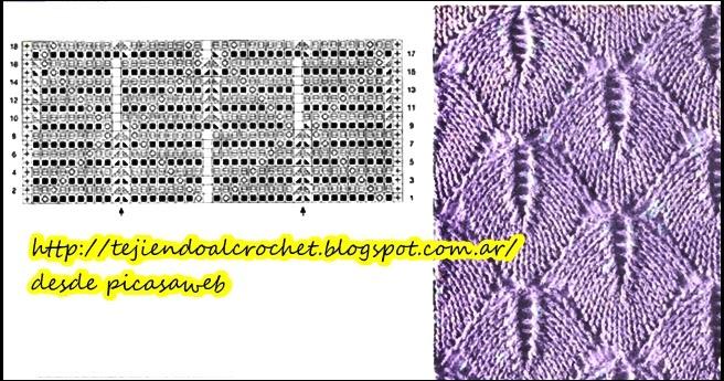 Tejidos a dos agujas tricot patrones graficos todo gratis hermosos puntos para tejer a dos - Puntos para tejer con dos agujas ...