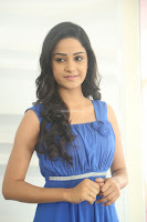 Divya Nandini stunning Beauty in blue Dress at Trendz Exhibition Launch ~  Celebrities Galleries 037.JPG