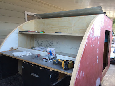 The teardrop, galley renovation