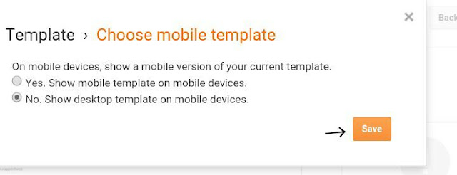 Disable the mobile version of the blog