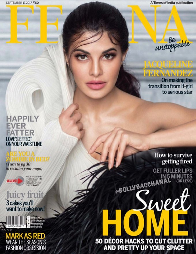 Jacqueline Fernandez On The Cover of Femina Magazine September 2017