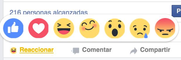 disponible el nuevo botón de reacciones de Facebook en España
