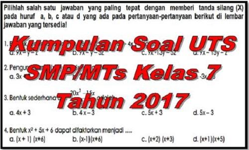 Soal Uts Smp Kelas 7 Bahasa Indonesia Guru Ilmu Sosial
