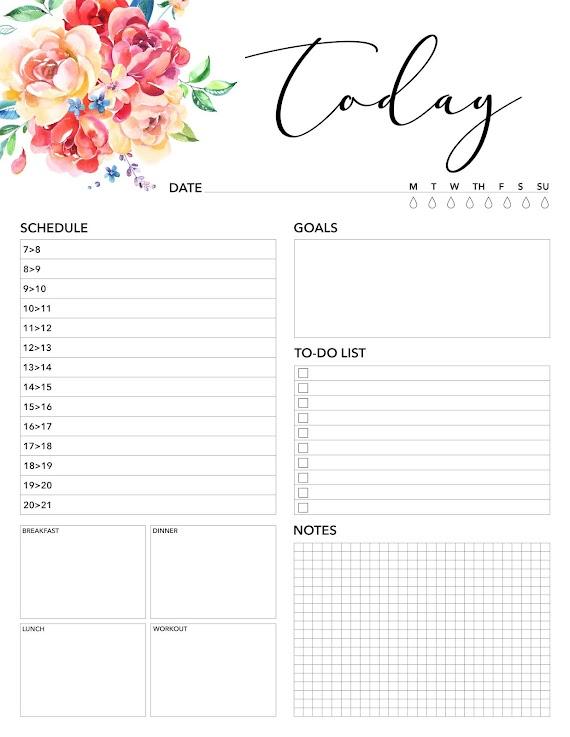 Kendin Yap | Yazdırılabilir Günlük Planlayıcılar