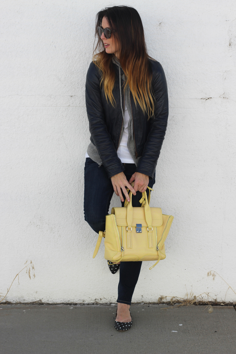 16fe0acac My Fancy Pants...: J.Crew Standing Collar Leather Jacket & Phillip ...