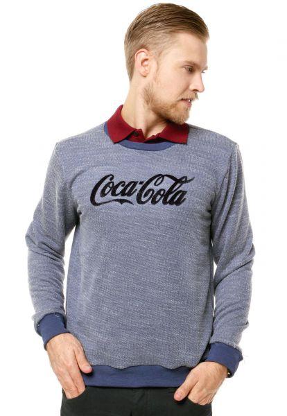 Coca-Cola Jeans Blusa Coca-Cola Relevo Azul