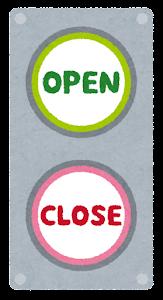 開閉ボタン(OPEN・CLOSE)