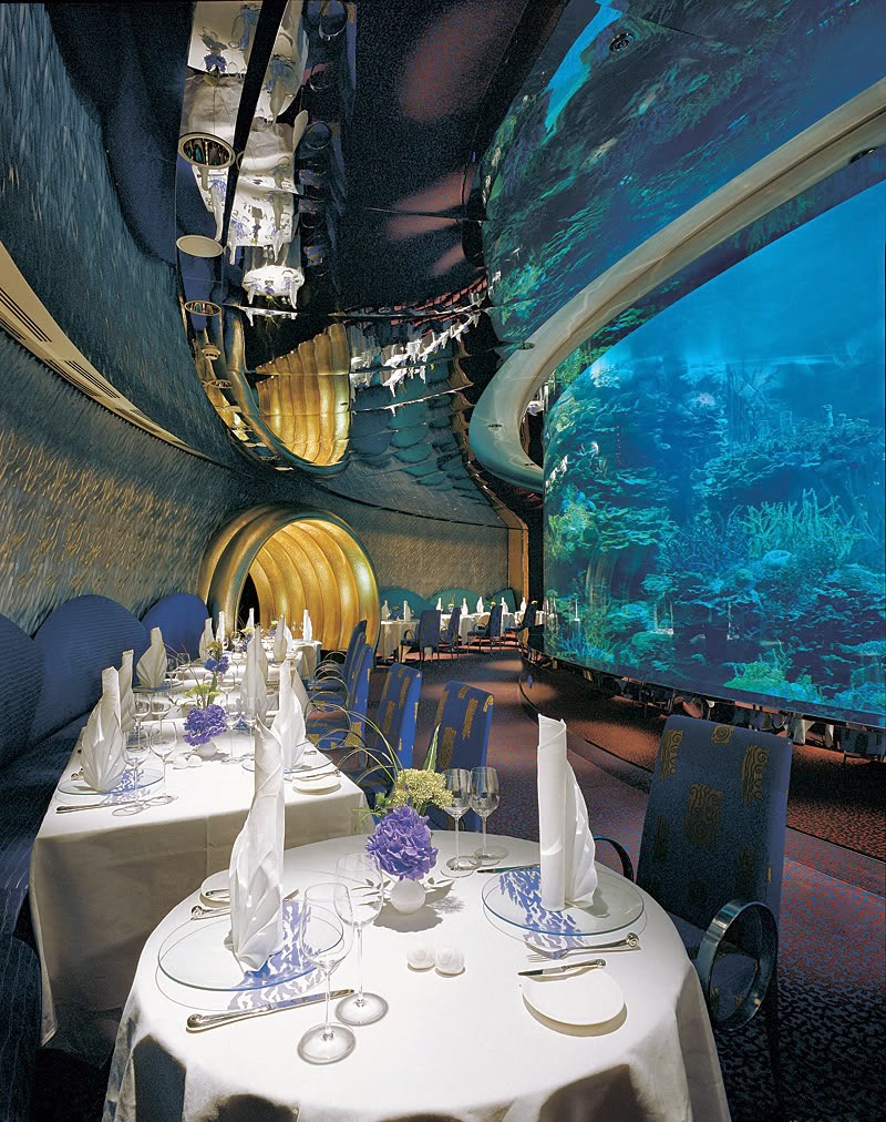 Inside view of Burj Al Arab a seven star hotel.