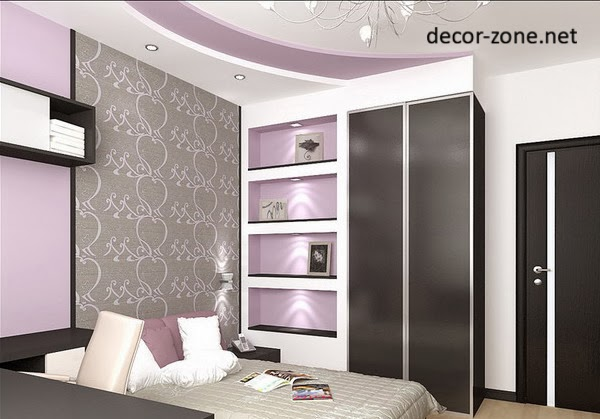 bedroom false ceiling designs with ceiling lights and ceiling chandelier