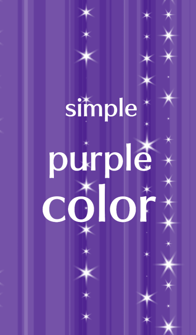 I like a simple purple color