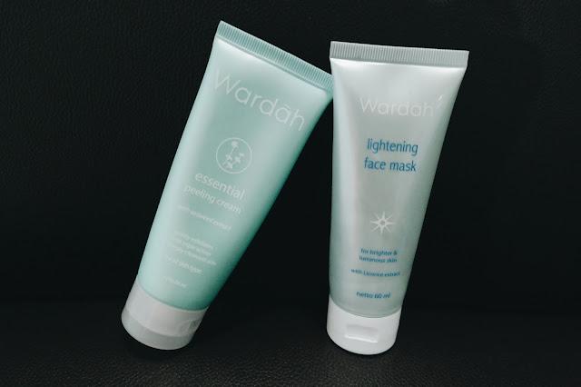Review: Wardah Essential Peeling Cream dan Wardah Lightening Face Mask