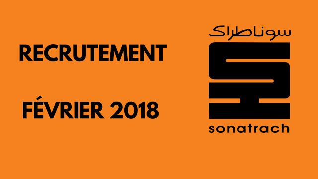 عروض توظيف بمؤسسة سونطراك - فيفري 2018 SONATRACH RECRUTE