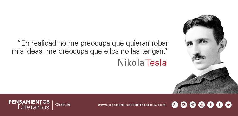 Pensamientos Literarios Nikola Tesla Sobre El Hombre De