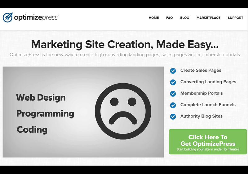 Use OptimizePress to instantly create fully responsive landing pages
