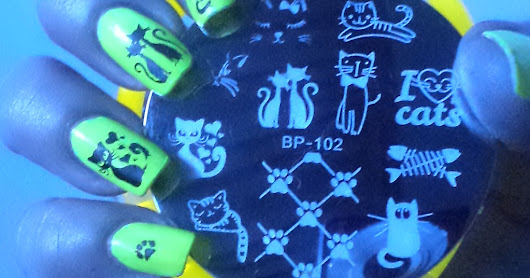 2565 cat nails, born pretty store stamping plate bp-102