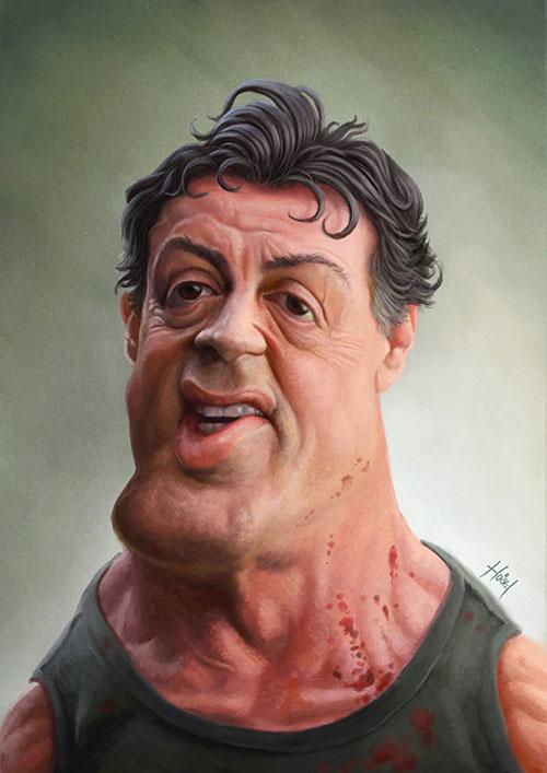 """""""Sylvester Stallone"""" por Tiago Hoisel"""