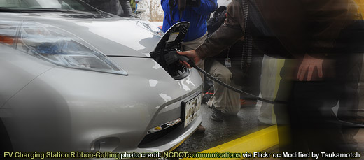 EV Charging Station Ribbon-Cutting photo credit by NCDOTcommunications