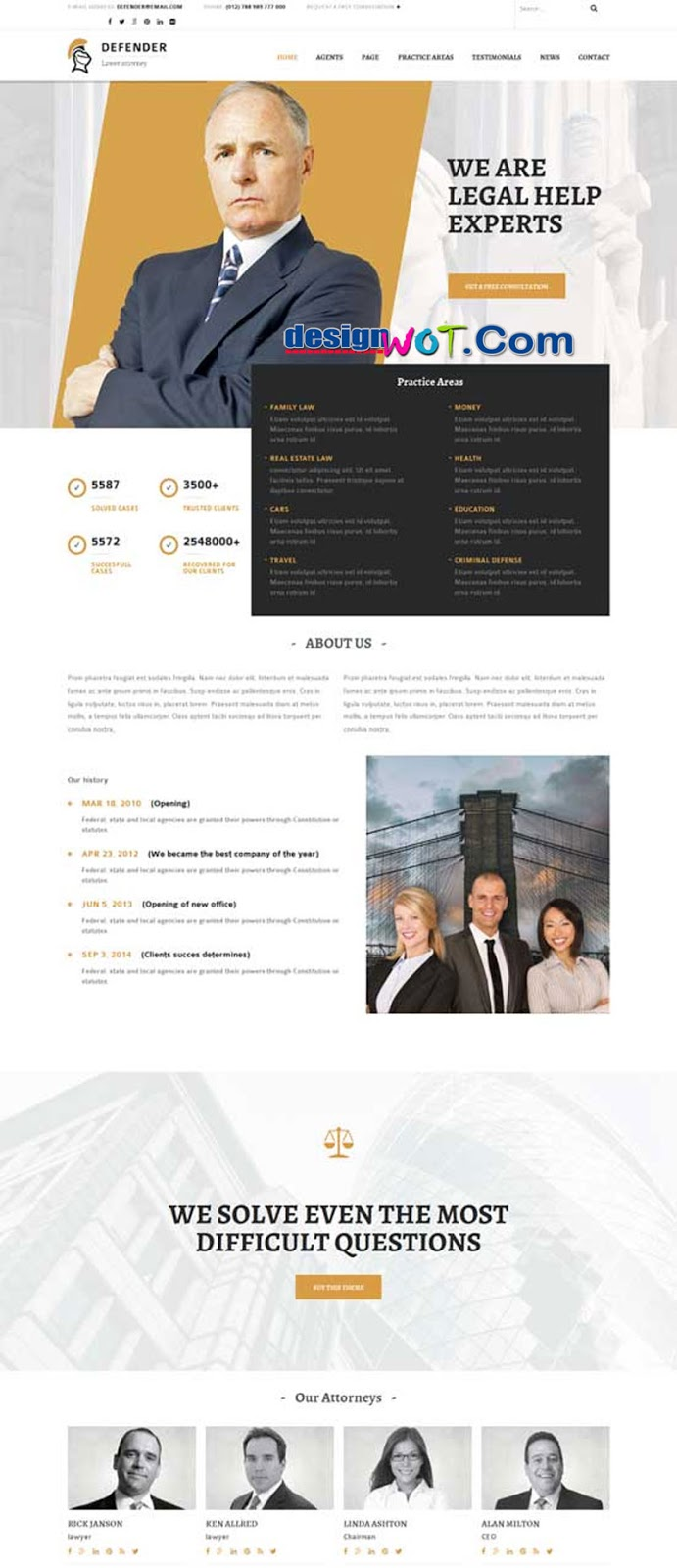 Defender – Attorney and Lawyer WordPress Theme