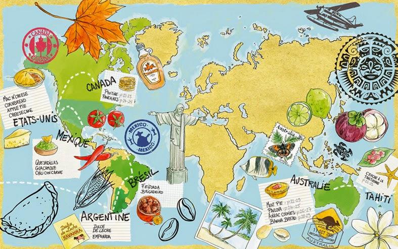 cuisine du monde carte vacances arts guides voyages. Black Bedroom Furniture Sets. Home Design Ideas
