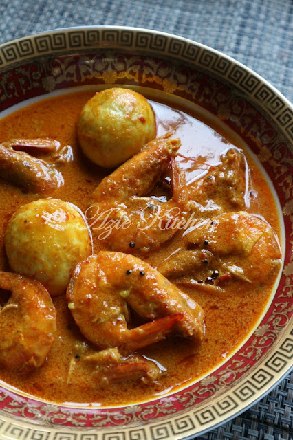 Gulai Udang Lauk Nasi Dagang Kelantan