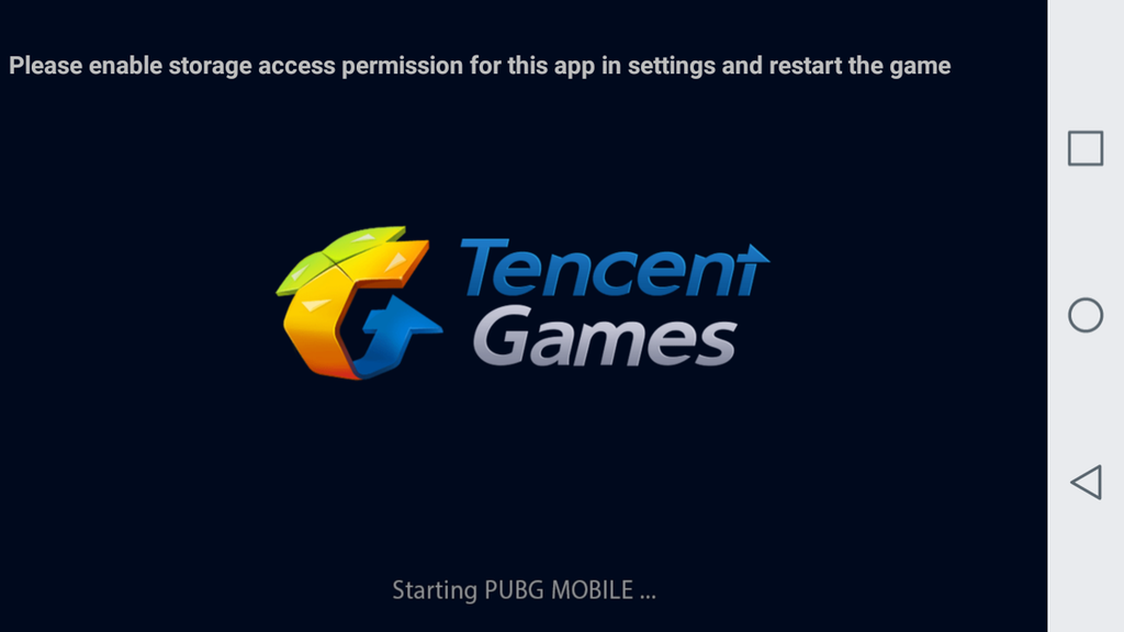 Game Maniac: please enable storage access permission for