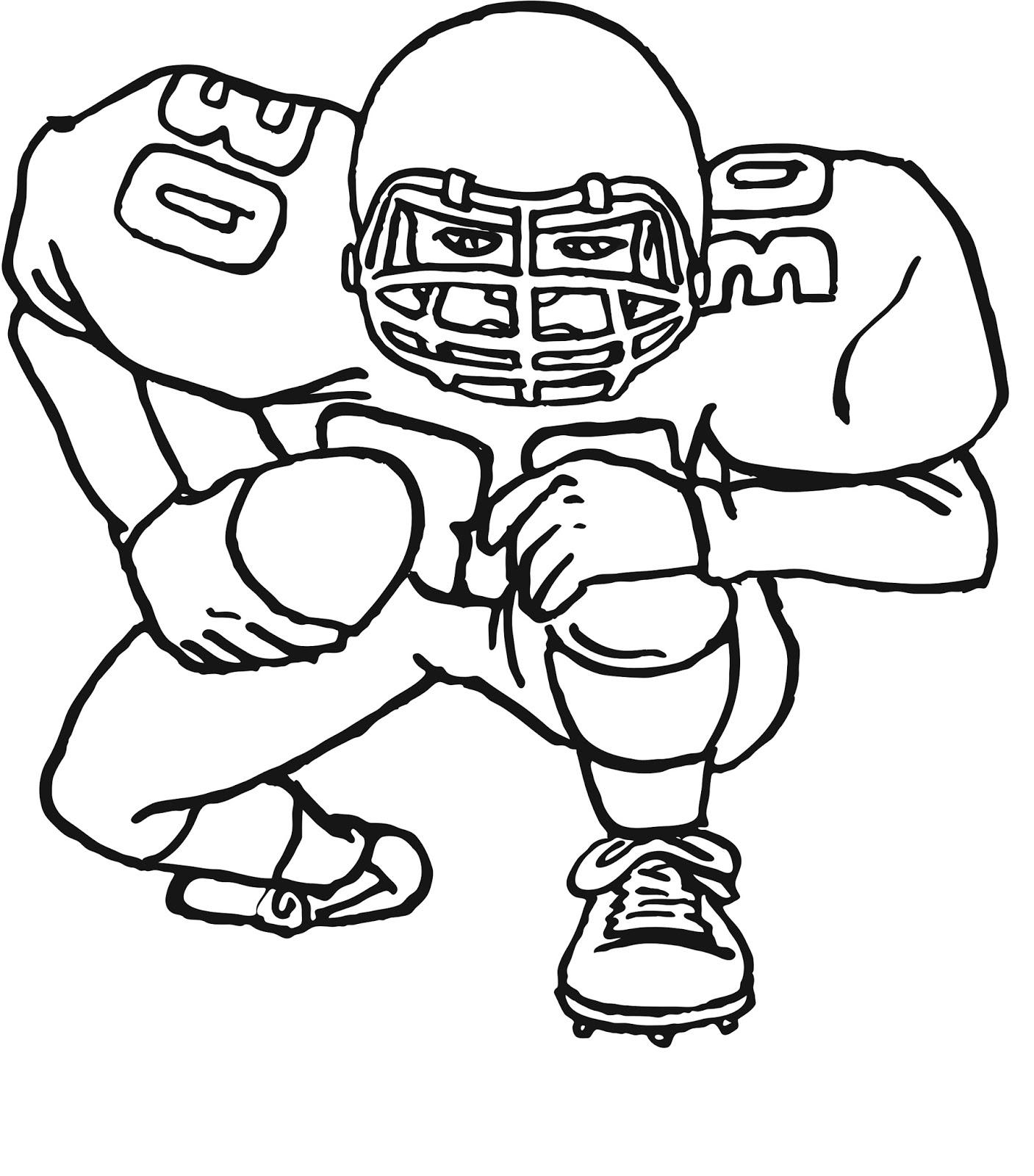 Football Coloring Pages Kids Should Have Five Facts | karena mereka ...