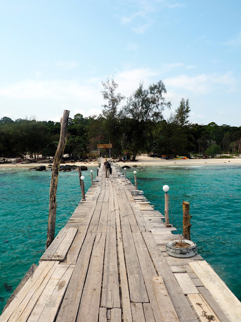 Pier on Koh Rong, Cambodia