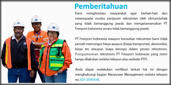 Lowongan Kerja PT Freeport Besar- Besaran Terbaru 2017 Penempatan Papua-Jakarta