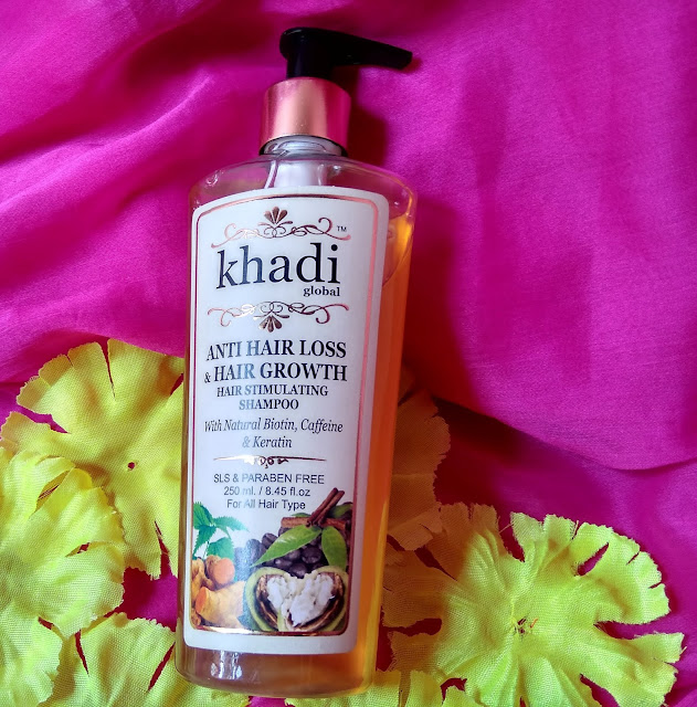 Khadi global anti hair loss & Hair growth hair stimulating shampoo Review
