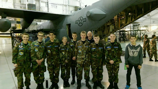 Cadets Tour Delaware Air National Guard Base