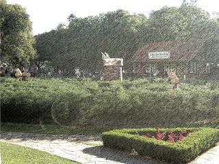 Labirinto Verde, na Praça das Flores, em Nova Petrópolis